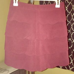Beautiful scalloped wine skirt. Perfect condition